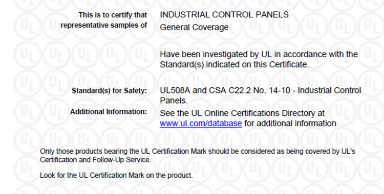 Certificate of compliance sc srl automazione industriale verona certificate of compliance altavistaventures Images